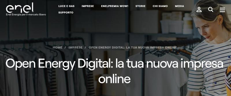 Screenshot promozione Enel